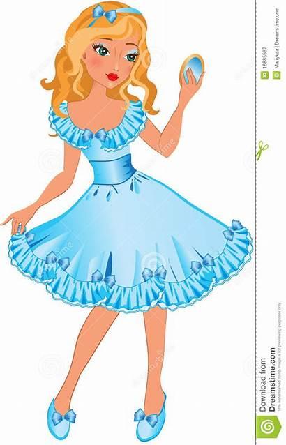 Clipart Pretty Cartoon Mirror Clip Bambina Lady