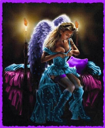 Angel Angels Fanpop Dangerous Sad Purple Angelic