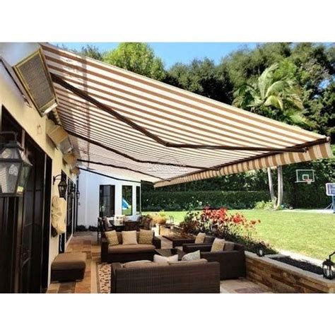 white  mustard waterproof retractable awning  home rs  square feet id