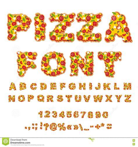 cuisine abc pizza font letters dough food alphabet fast food abc