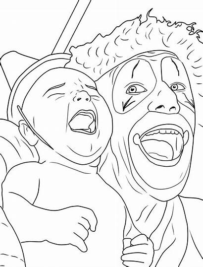 Coloring Creepy Pages Clown Adults Adult Clowns