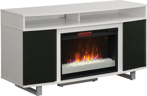ClassicFlame High Gloss White Enterprise Lite TV Stand