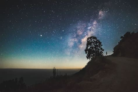 Free Picture Silhouette Sky Stars Cosmos Milky Way