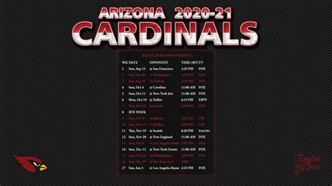 arizona cardinals wallpaper schedule