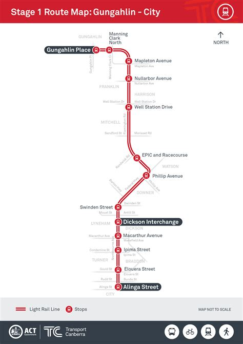 light rail stops routes and stops transport canberra