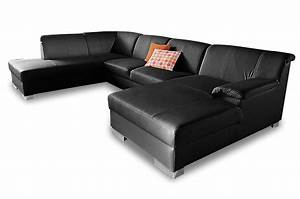 Sofa Mit Schlaffunktion Leder : leder wohnlandschaft lino mit schlaffunktion schwarz sofas zum halben preis ~ Bigdaddyawards.com Haus und Dekorationen