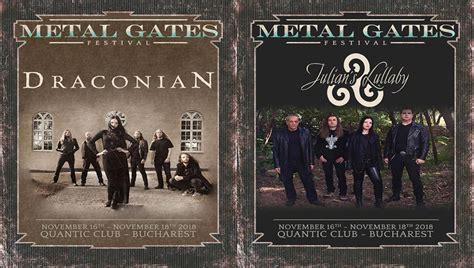 Draconian & Julian's Lullaby Confirmed @metal Gates