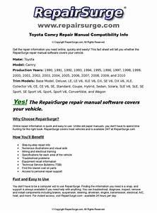 Toyota Camry Online Repair Manual For 1990  1991  1992