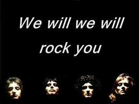 Queen  We Will Rock You Karaoke (real Queen Music) Youtube