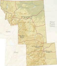 Rocky Mountain States Map