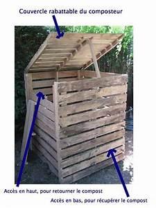 monter les cotes et couvercle bois du composteur With peinture mur exterieur couleur 11 fabriquer un composteur en palette ou bois de recup