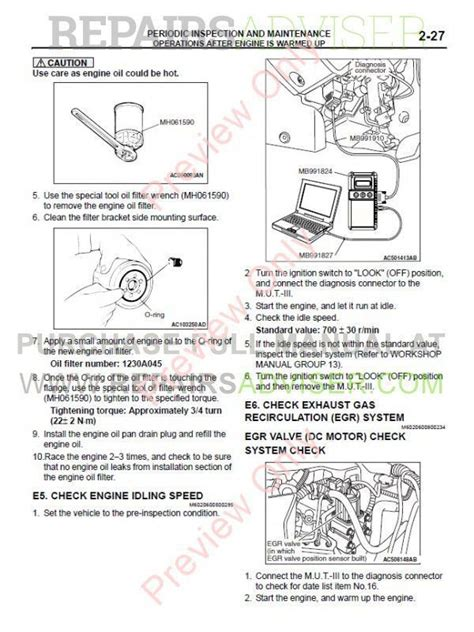 mitsubishi triton l200 2007 repair manual