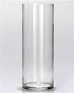 Vase En Verre Haut : le vase en verre droit cylindrique haut 25 cm luxe noel ~ Nature-et-papiers.com Idées de Décoration