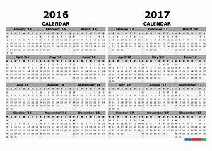 October 2020 Calendar Template Printable Calendar 2016 2017 In 1 Page Free Printable