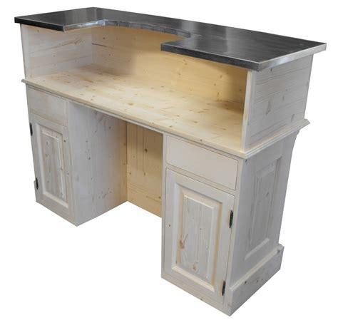 bureau de caisse comptoir acceuil et bureau sur mesure en pin massif