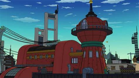 german building resembles planet express headquarters