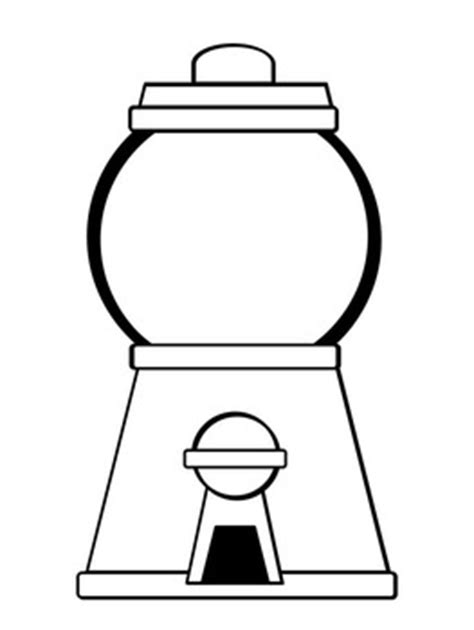 gumball machine template gumball machine coloring pages freebie by pink at tpt