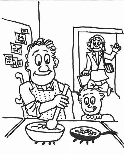 Cooking Kitchen Cartoon Dad Flickr Weekly