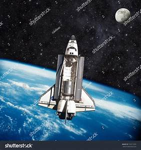 Space Shuttle Orbiting The Earth. Elements Of This Image ...