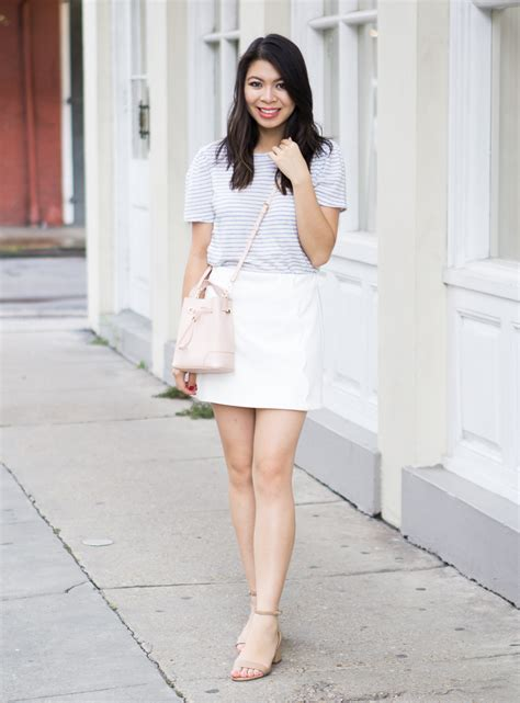 Scallop White Skirt Outfit in New Orleans   Just A Tina Bit