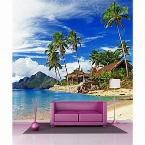 Papier Peint Geant : papier peint g ant sous les tropiques 250x 250cm art ~ Premium-room.com Idées de Décoration