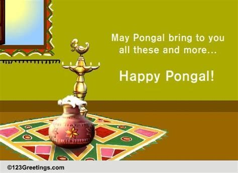 happy pongal pongal ecards greeting cards