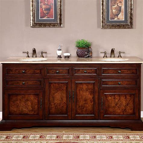 Rounded Bathroom Vanity by 72 Quot Bathroom Vanity With Sink Cherry