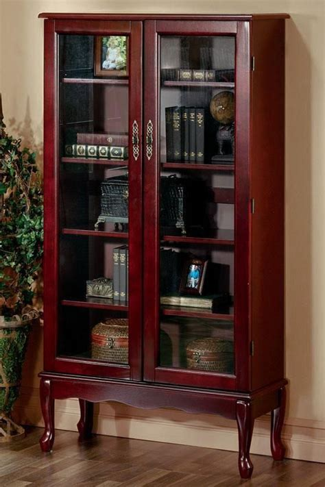 cherry bookcase with glass doors 14 best credenza and executive desk images on pinterest