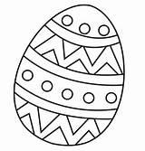 Easter Coloring Pdf Egg Below sketch template