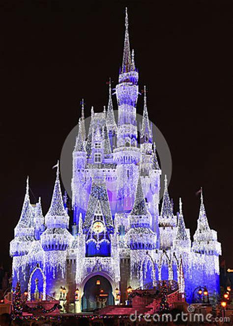 cinderella castle illuminated  night magic kingdom