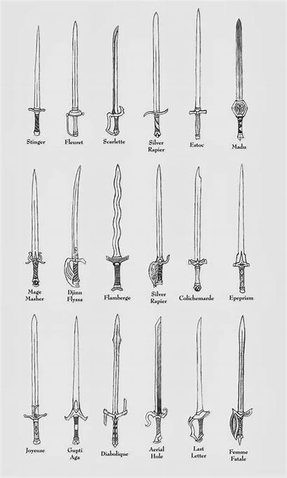 Drawing Sword Swords Draw Weapons Concept Techniques