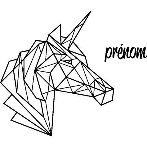 dessin cuisine 3d sticker prénom personnalisable licorne en origami texte