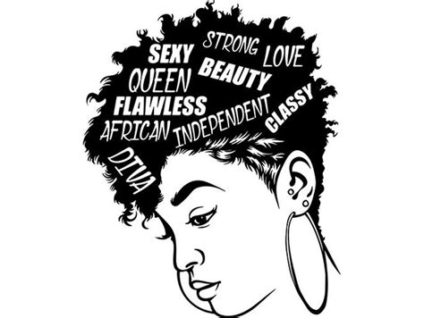 Side view of african american woman with natural hair. Black Woman Diva Quotes Lady Nubian Queen Mohawk Hairstyle ...