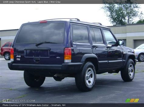 blue grey jeep cherokee 1998 jeep cherokee sport 4x4 in lapis blue photo no