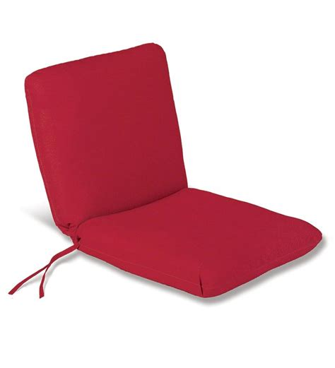 weather resistant outdoor chair cushion w ties 19 quot x 17