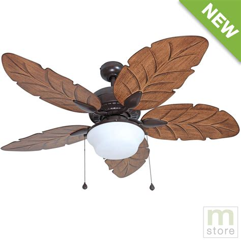 Tropical Ceiling Fans With Lights by 52 Quot Ceiling Fan With Light Kit Indoor Outdoor Downrod