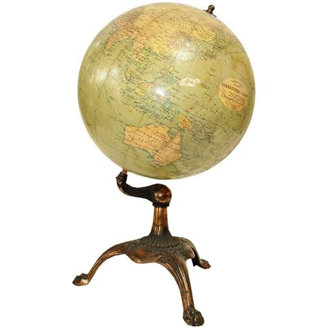 wolfard l brass base antique globe bronze base at 1stdibs