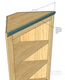 Training wood project: Cool Easy corner shelf plans