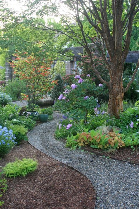 gravel garden path ideas landscape traditional with purple