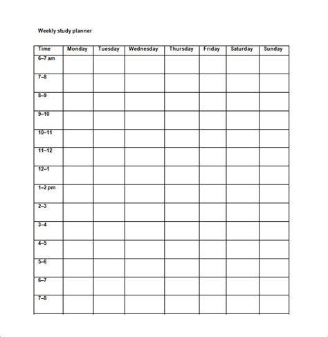 study schedule template 18 study schedule templates pdf doc free premium templates
