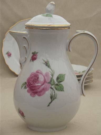 tirschenreuth bavaria pink roses china tea  coffee pot