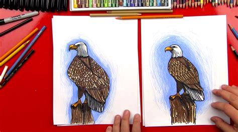 draw  realistic bald eagle art  kids hub