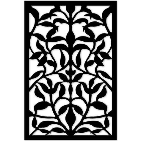freedom tree design home acurio latticeworks 1 4 in x 32 in x 4 ft black olive