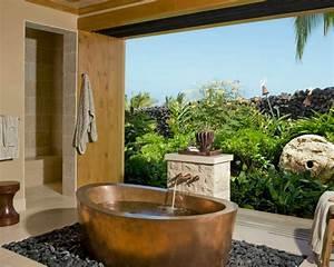 10 idees de design pour une belle salle de bain tropicale With salle de bain design avec décoration tropicale anniversaire