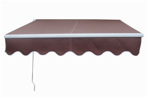 patio manual retractable awning canopy sun shade shelter