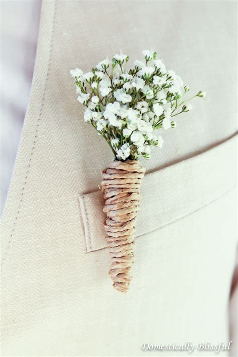 diy baby s breath wedding boutonnieres lou lou