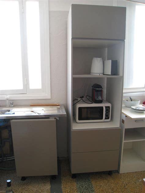 meuble cuisine pour four et micro onde meuble haut four encastrable