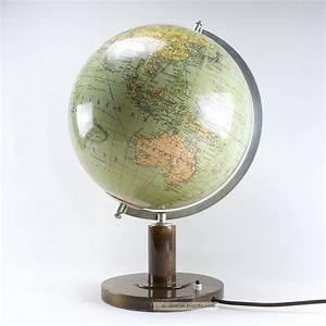 Retro Lampe Holz : globus columbus glas lampe holz beleuchtet vintage mid century 60s 60er ~ Indierocktalk.com Haus und Dekorationen