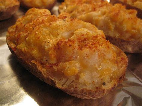 hope youre hungry  baked shrimp stuffed potatoes