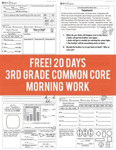 3rd Grade Morning Work Worksheets